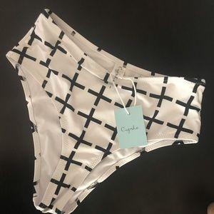 Cross swimsuit bottom